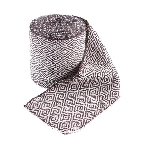Diament tkaniny diagonal brązowe / naturalny, 10 cm szerokości, na 7 licznika