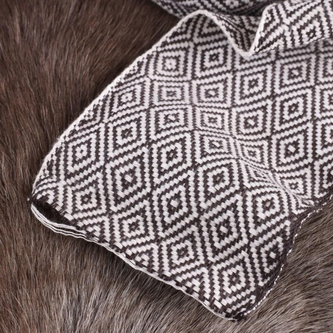 Diamond sarga tela marrón / naturales, 10 cm de ancho, por 7 metros