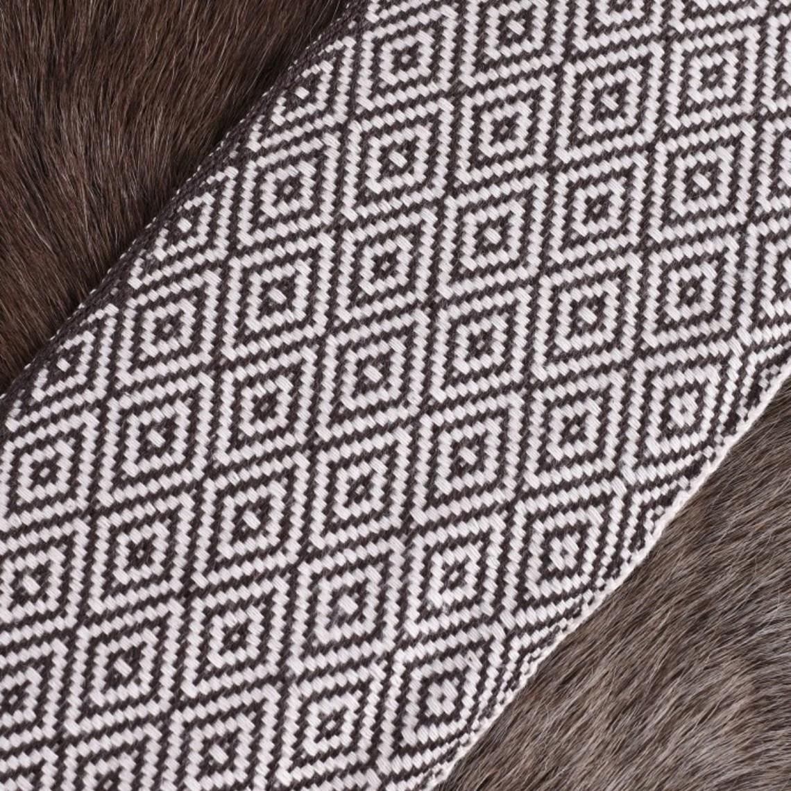 Diamant twill fabric brun / naturliga, 10 cm bred, per 7 meter