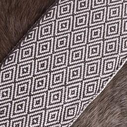 Diamond twill fabric brown/natural, 10 cm wide, per 7 metre