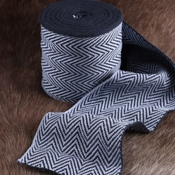 Herringbone motif fabric blue, 10 cm wide, per 7 metre