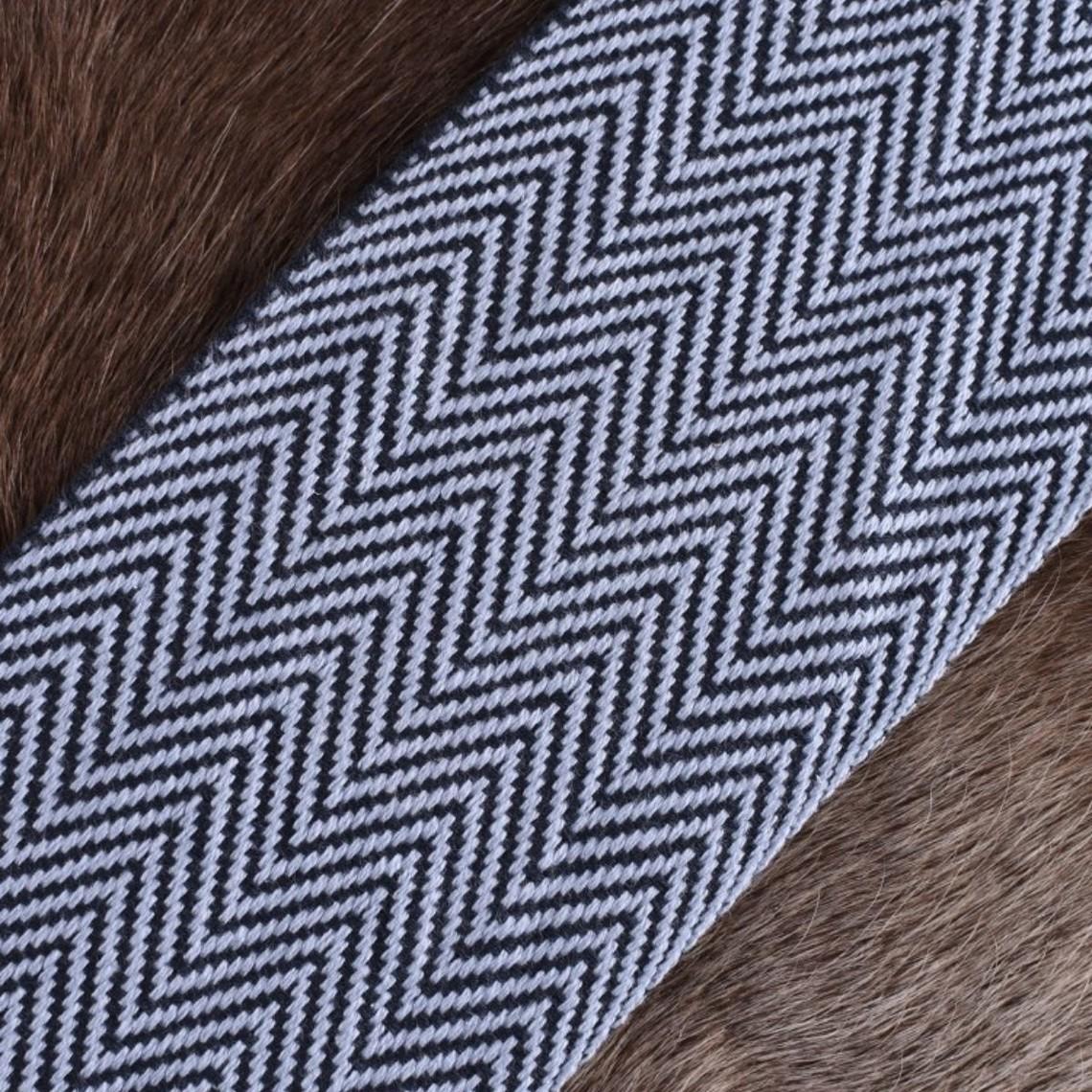 Herringbone Motiv Stoff blau, 10 cm breit, je 7 Meter
