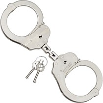Handcuffs nickel-plated