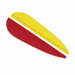 Feathers for fiberglass arrows