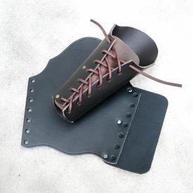 vambrace en cuir 23 cm, noir