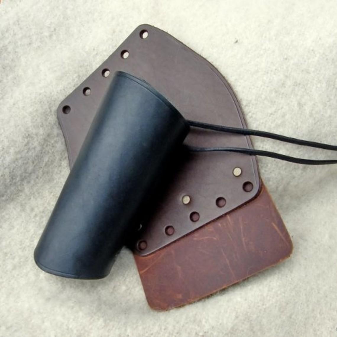 vambrace cuero de 16 cm, marrón