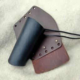 Läder vambrace 16 cm, brun