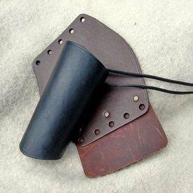 Leather vambrace 16 cm, brown