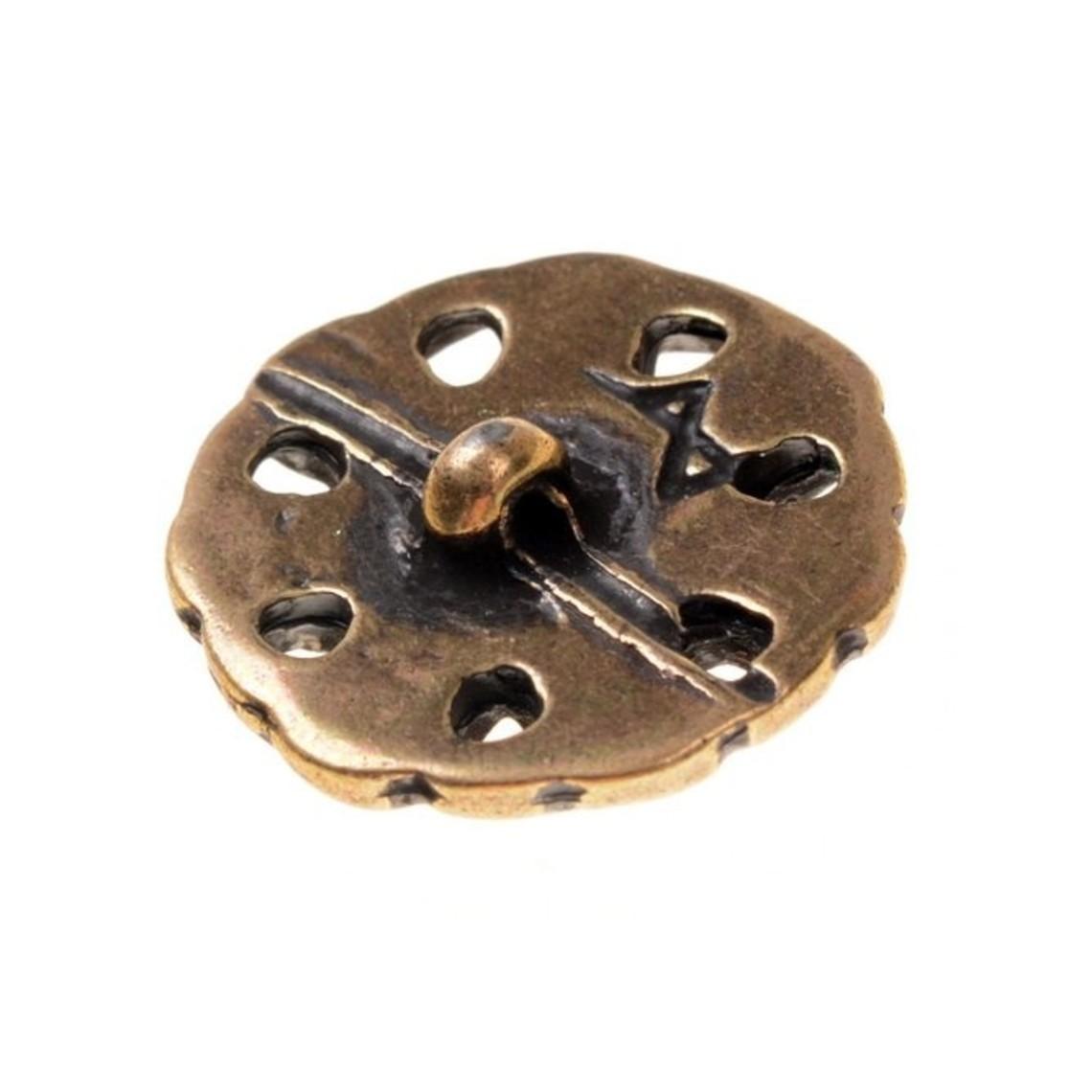 botones principios de la Edad Media, conjunto de 5 piezas, latón