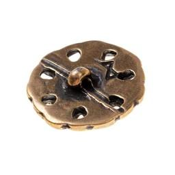 pulsanti altomedievale, set di 5 pezzi, ottone