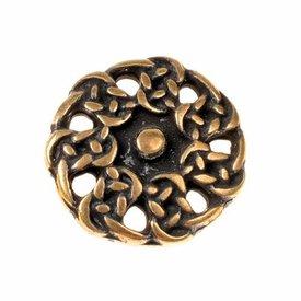 Tidig medeltid knappar, uppsättning av 5 st, mässing