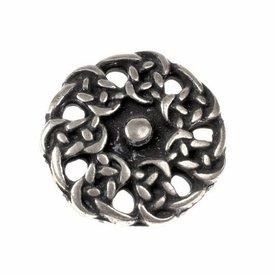 pulsanti altomedievale, set di 5 pezzi, argentato