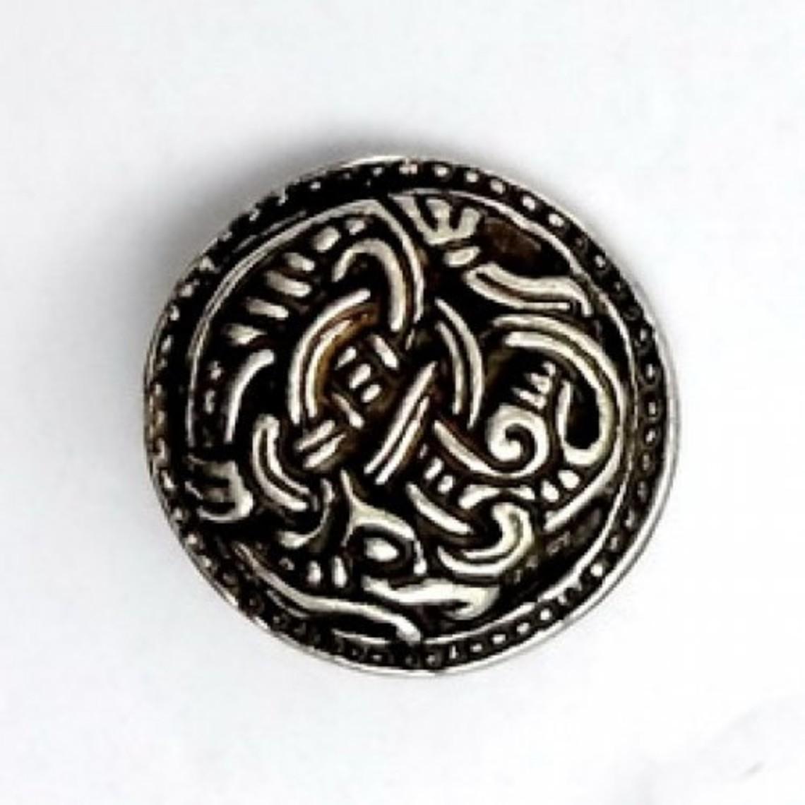 Vikingknopen Borrestijl set van vijf stuks, messing