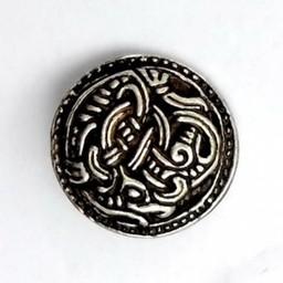 Viking knappar Borre stil uppsättning av fem bitar, försilvrade