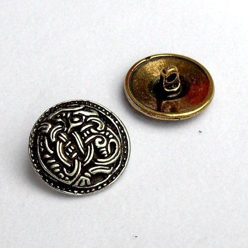 boutons de style Viking jeu de cinq pièces Borre, argentait