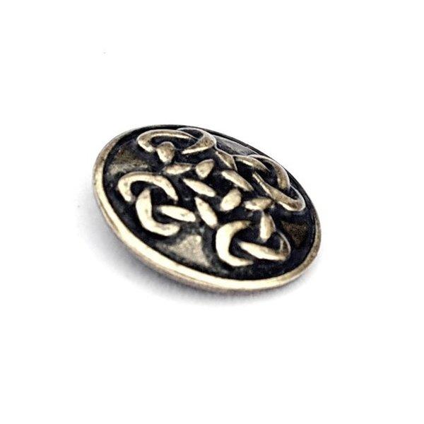Celtic knapper Orkney, sæt af 5 stykker, messing