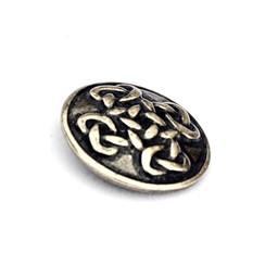 botones célticos Orkney, juego de 5 piezas, plateado