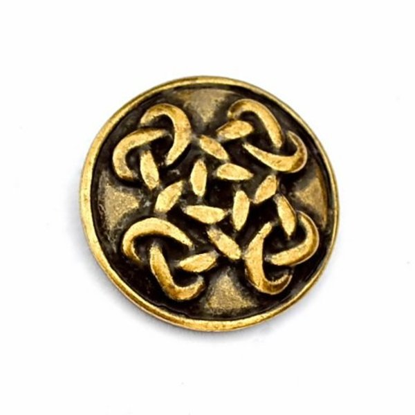 Celtic buttons Orkney, set of 5 pieces, silvered