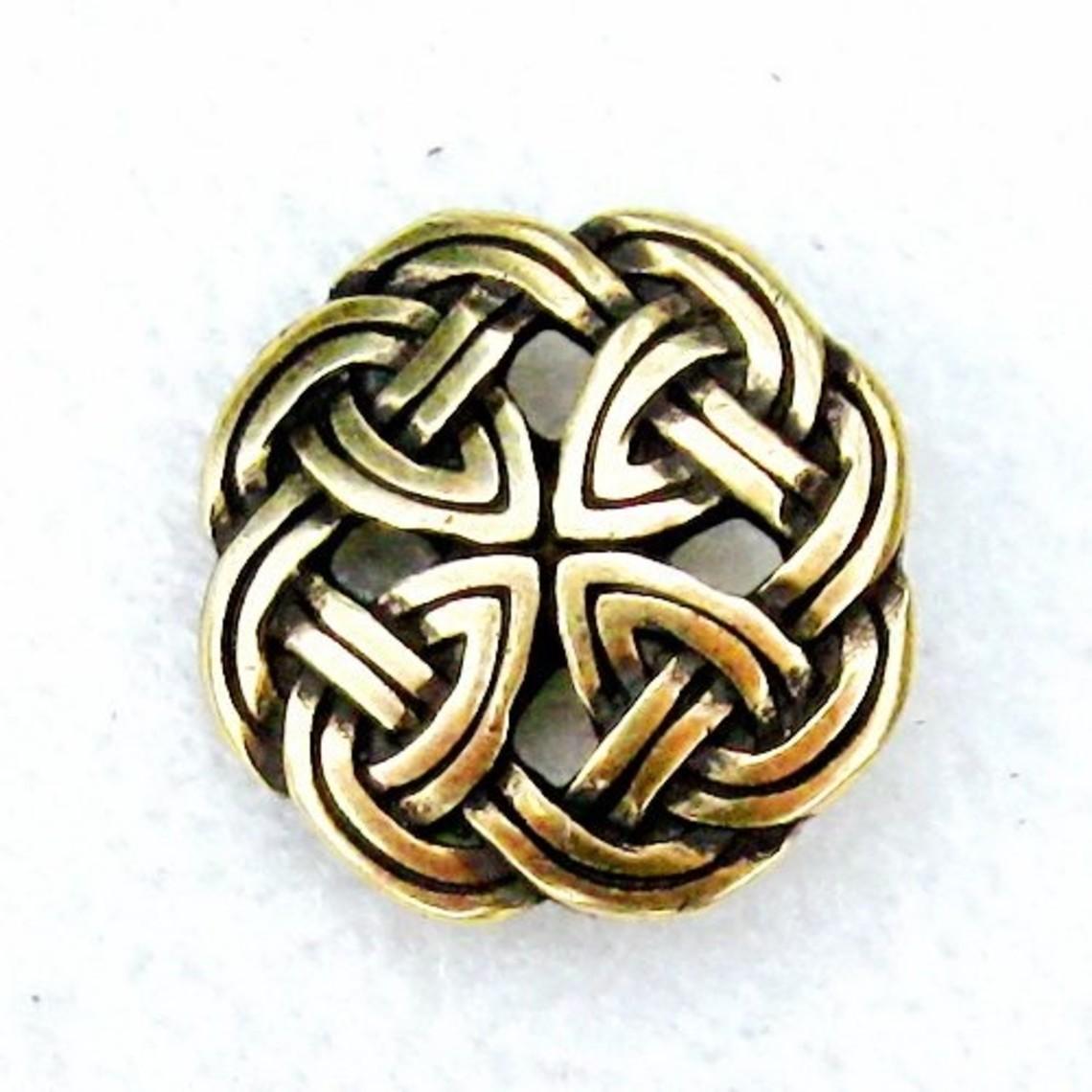 botones célticos Tara, conjunto de 5 piezas, latón