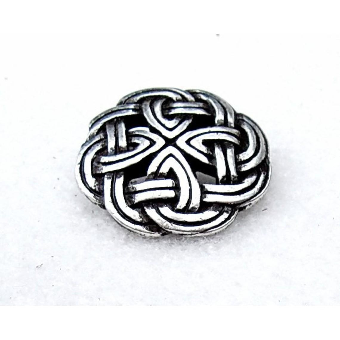 botones célticos Tara, juego de 5 piezas, plateado