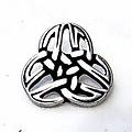 Botones triquetra celta, juego de 5 piezas, argentado