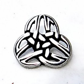 Buttons Celtic triquetra, set of 5 pieces, silvered