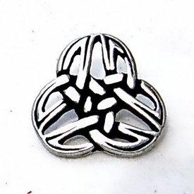Knopen Keltische triquetra, set van vijf stuks, verzilverd