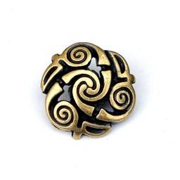 Celtic spiral buttons, set of 5 pieces, brass