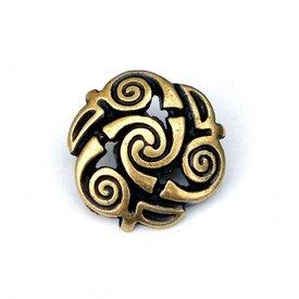 Celtic spiral knappar, uppsättning av 5 st, mässing