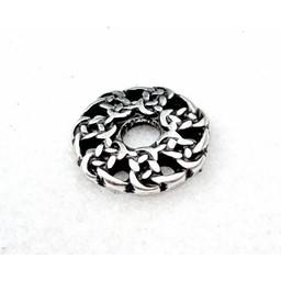 botones gaélico principios de la Edad Media, juego de 5 piezas plateadas,