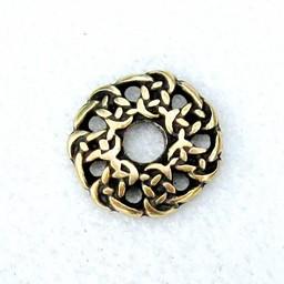 botones gaélico principios de la Edad Media, conjunto de 5 piezas, latón