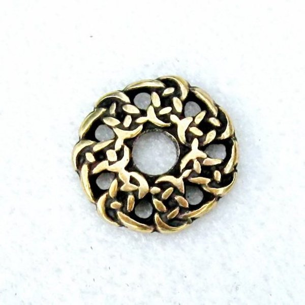Early medieval Gaelic buttons, set of 5 pieces, brass