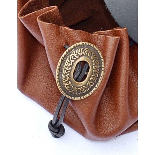 Renæssance taske knap forsølvet