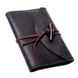 Cuaderno con cubierta de cuero, negro, L