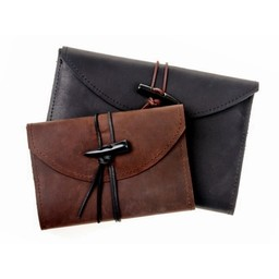 Cuaderno con cubierta de cuero, marrón, L