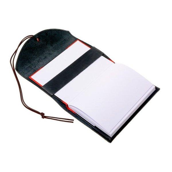 Notebook con rivestimento in pelle, marrone, L