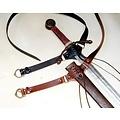 cinturón de la espada medieval, negro