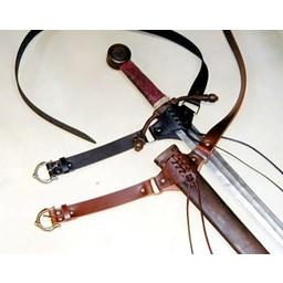 Średniowieczny miecz pas, czarny