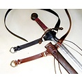 Średniowieczny miecz pas, brązowy