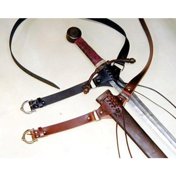 Medieval sword belt, brown