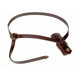 Luksusowy Viking sword pas, brązowy
