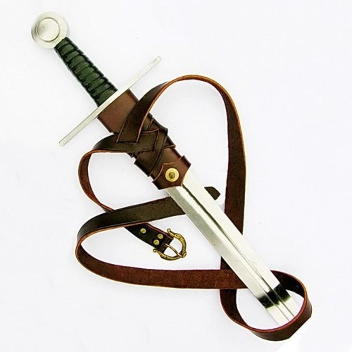 Lujoso cinturón de la espada de Viking, negro
