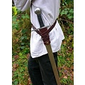 Lussuosa cintura della spada vichinga, nero