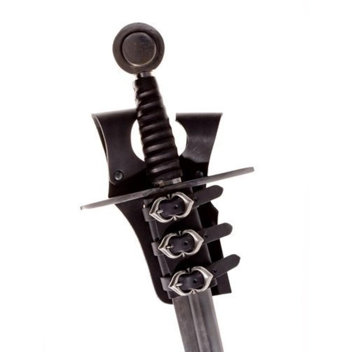 Porte-épée médiévale pour ceinture, noir