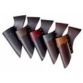 titular de piel para espadas LARP, de color marrón oscuro-negro
