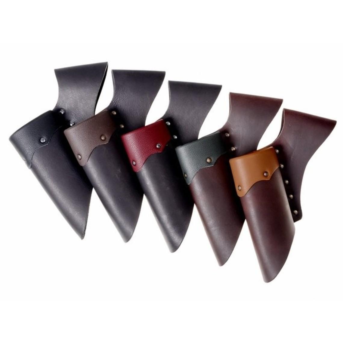 Supporto in pelle per le spade GRV, rosso-nero