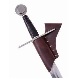 Knight sword holder for belt, brown