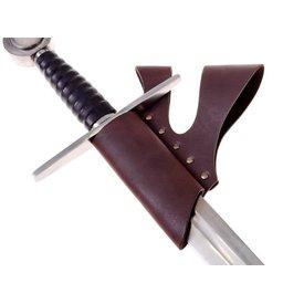 Chevalier porte-épée à double boucle de ceinture, brun