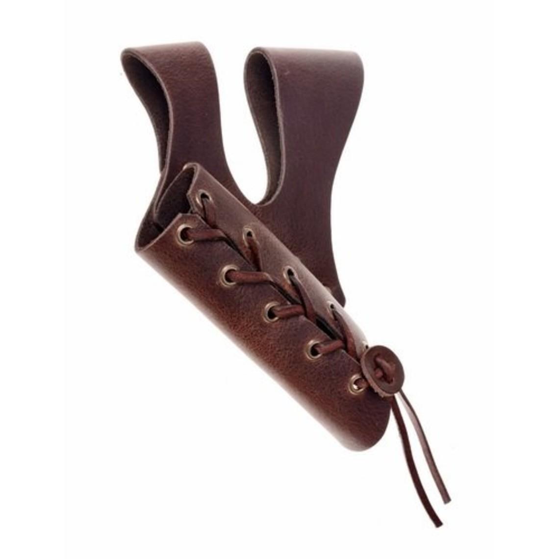 Porte épée à double boucle de ceinture, brun