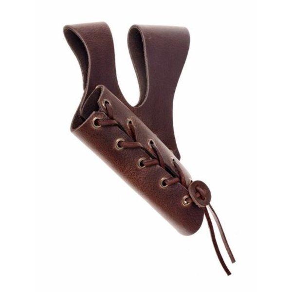 Sword holder with double belt loop, brown